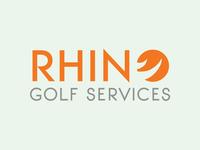 Rhino Golf Services logo logo design logo branding