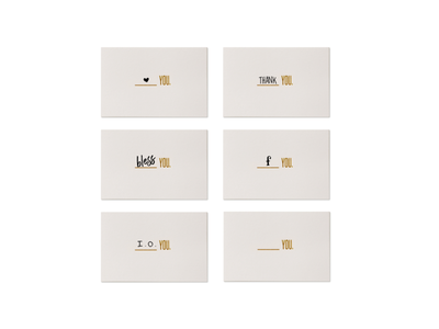 Blank You Cards - All-occasion notecards love you business card note card message letterpress gold foil fuck you blank you thank you typography greeting cards stationery