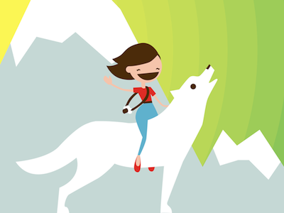 Yeehaw! hannah wolves wolf howl mountains girl portrait camera wilderness landscape animal character
