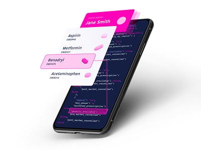 API Value Mockup emr pill reminder pill pink medicine api mockup medical app pill app medicine app