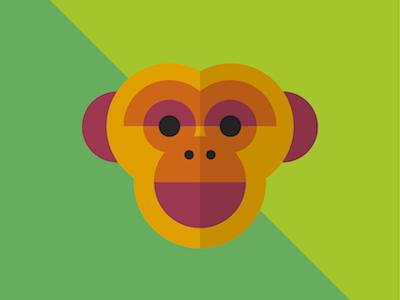 Monkey Face monkey face colourful monkey jungle animal illustration geometric illustration