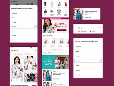 Sorabel - Discovering Product Improvement categories filter sort product list fashion fashion app cart shop shopping app marketplace ecommerce mobile