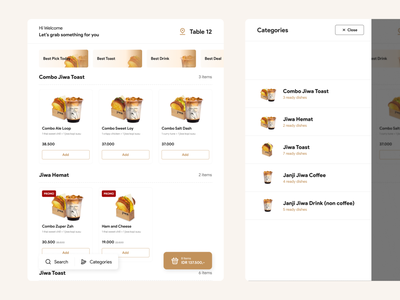 Coffee Shop Point of Sales - Menus and Categories eat category ecommerce food delivery menus delivery food point of sales pos
