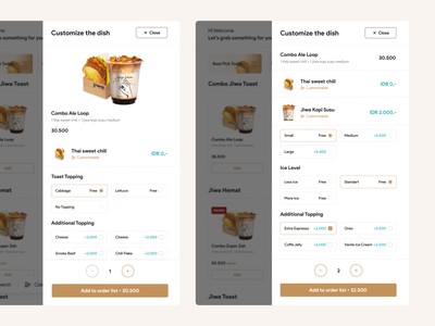 Coffee Shop Point of Sales - Menu detail and Customization ecommerce ecom food delivery delivery pos point of sales dish detail menu detail order detail restaurant menu dish food eat