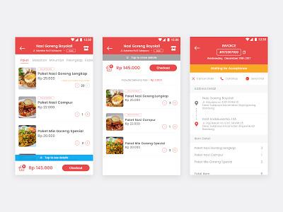 PesanMang Android Menus Checkout Process status food menus transaction checkout ui mobile android