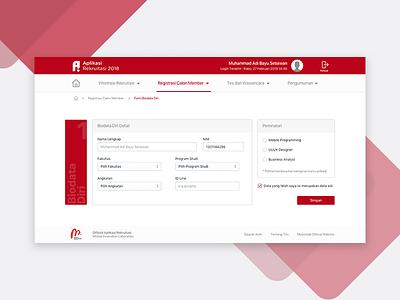Register Form - Recruitment Web Platform fullform register recruitment design page web dashboard form