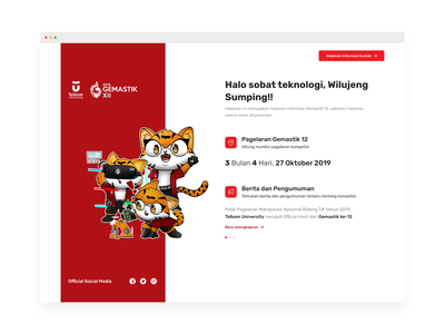 Gemastik XII - Coming Soon Page landing page website ux design ui design countdown competition announcement mascot tiger web coming soon page