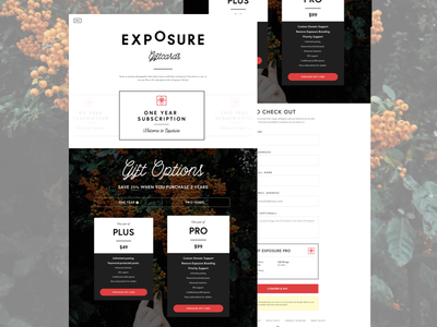 Exposure Gifts Landing Page
