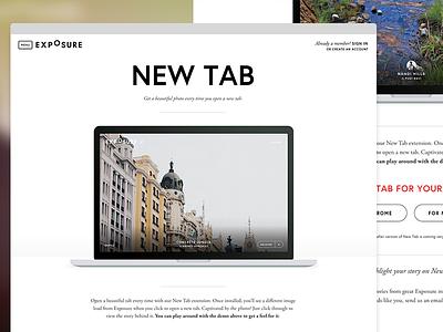 New Tab Landing Page