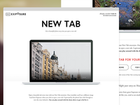 New Tab Landing Page