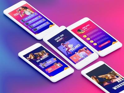Workout App Screens