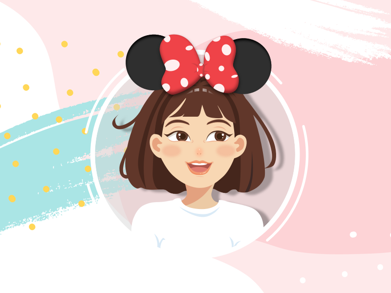 Want to go to Disney Hahaha... illustration