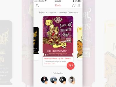 Crowdmeet app screen