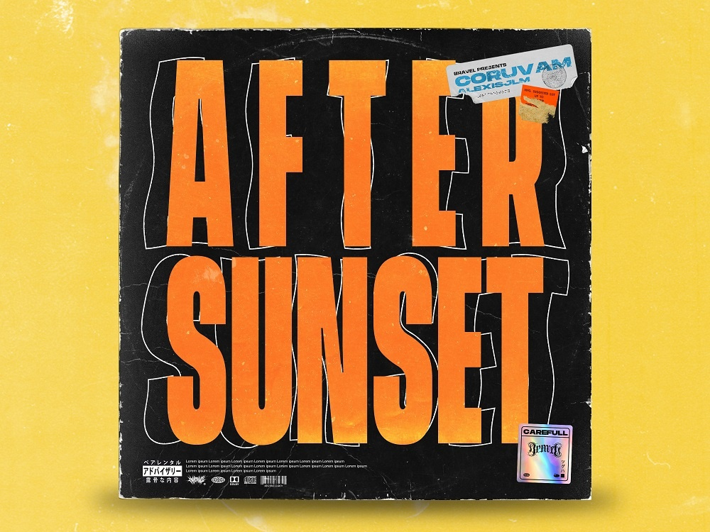 After sunset - Premade album cover