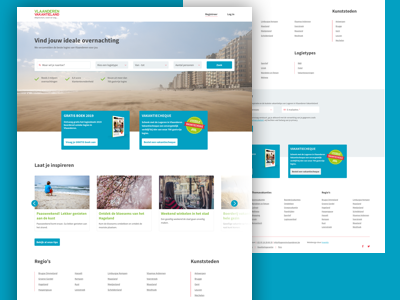 Logeren in Vlaanderen Vakantieland sketchapp design clean desktop ux ui interface