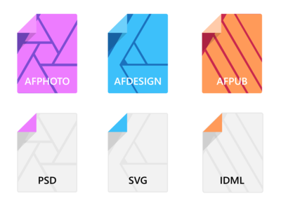Custom icons for Affinity Suite
