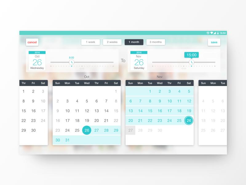 POS - Date Selector time picker time ui range date range date selector date picker dates calendar