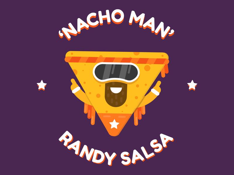 'Nacho Man' Randy Salsa illustrator crisp macho savage wwe 2d vector character vector salsa nacho wrestling wwf macho man randy savage design illustration