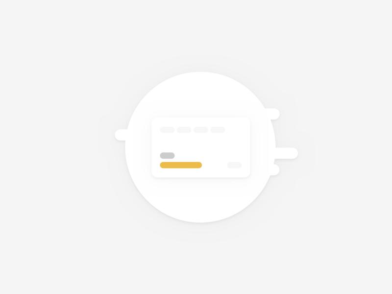 Card Icon   KV branding illustration minimal icon design ux ui