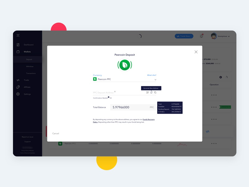Trading Platform   CryptoCurrency trading system exchanger exchange bitcoin exchange dashboard bitcoin withdraw deposit trading card trading app