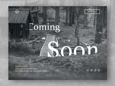 #02 - Daily UI Challenge - Coming Soon page