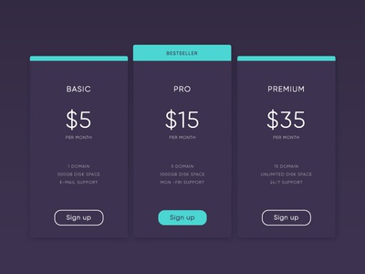 Pricing and Checkout Idea #2 - Daily UI