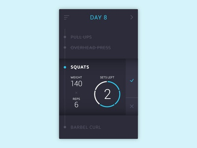 #08 - Workout Tracker - Daily UI