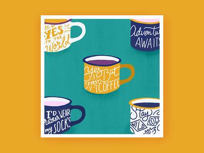 Illustration Coffee First