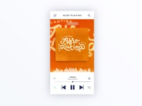 Cantina Afro Latina - cover design, lettering and UI graphic app white minimal clear music ui cover playlist type lettering