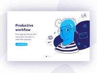 Illustration Productive workflow banner onboarding subscribe ipad pro procreate challenge card workflow illustration designer ux ui