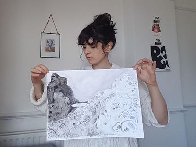 Lanscape graphic design painting artwork pattern lanscape ink gouache poster hand drawn drawing illustration comics graphic novel