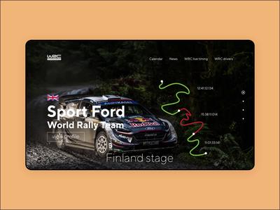WRC stage ui website web ux design animation
