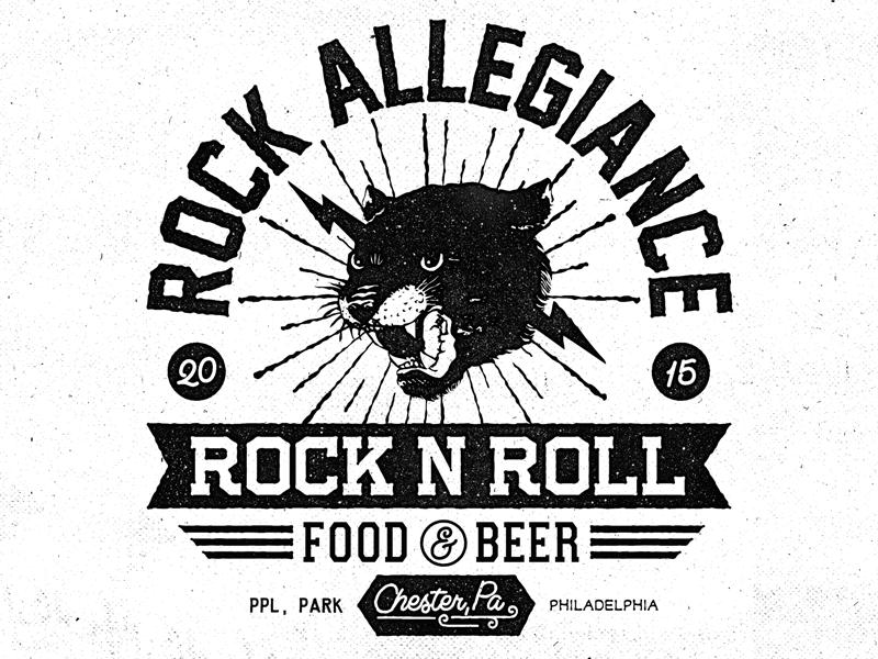 Rock Allegiance Fest chester philadelphia design panther tshirt festival rock