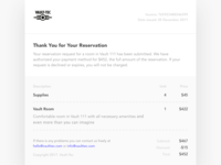 Daily UI challenge #17 — Email Receipt
