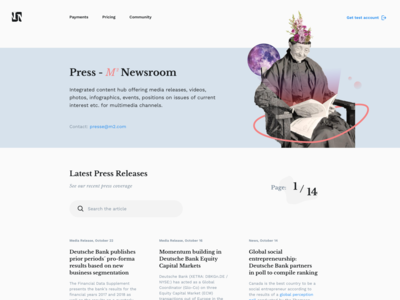Daily UI challenge #51 — Press Page