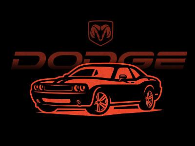 Dodge illustration sport dodge logo car