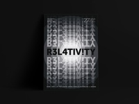 R3L4TIV!TY poster series relativity gaming typography poster