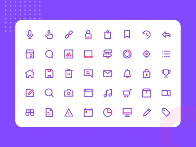 Antarmuka Two Color UI element 1 iconography userinterface icon design icon pack icon set icons design ui graphic icon marketing mail website header onboarding illustration