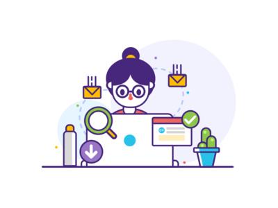 IT Recruitment Website illustration