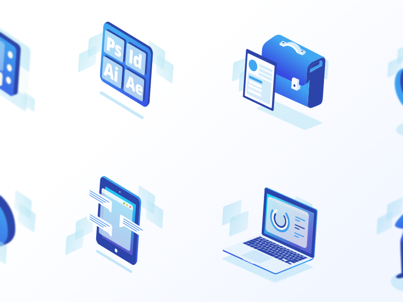 How it Works Iconset website onboarding menthor landing jobs illustration iconset icon header advantages
