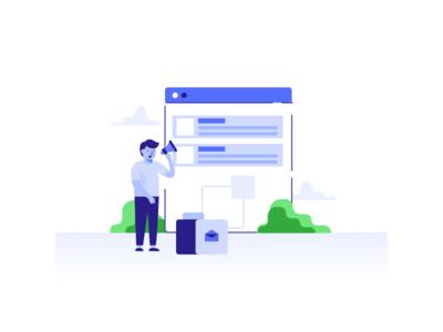 Email Platform header mail mailbox mainpage onboarding website illustration