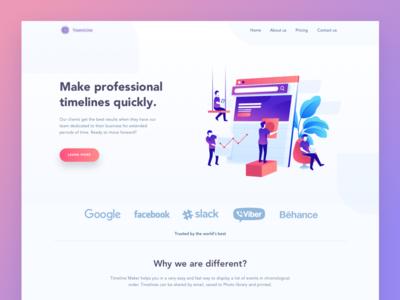 Timeline maker Landing Page