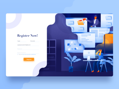 Registration form Header illustration