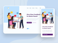 Give Feedback Illustration Website Header