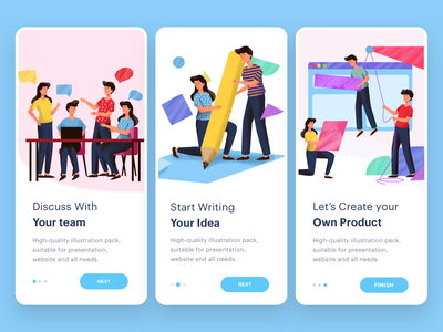 Start Up mobile on-boarding illustration branding ui logo landing graphic mail flat website header onboarding illustration