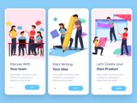 Start Up mobile on-boarding illustration