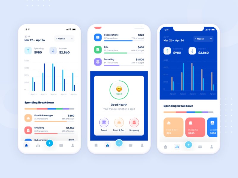 Banky - Activity Screen & Alternative Design. apps screen uiux minimalism payment banking ui design apps ui ux icon dashboard marketing mail flat website header onboarding illustration