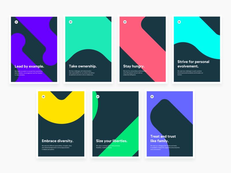 Closelink Values print illustration flat sketch figma design brand poster graphic design brand identity identity branding values