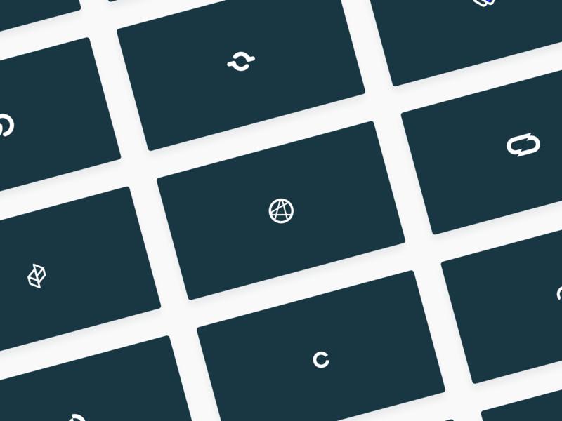 Closelink Logo Iterations design sketch figma flat graphic design logo mark brand branding identity