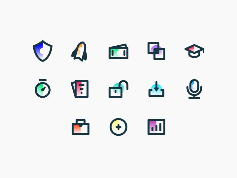Closelink – Icons website design mobile illustration colors brand identity branding identity flat ux ui web icons